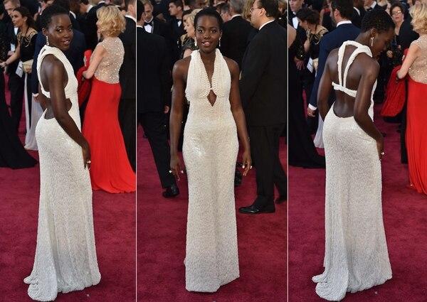 La actriz lució un vestido de 6.000 perlas en la pasada entrega de los Óscar. Su costo fue de $150.000.