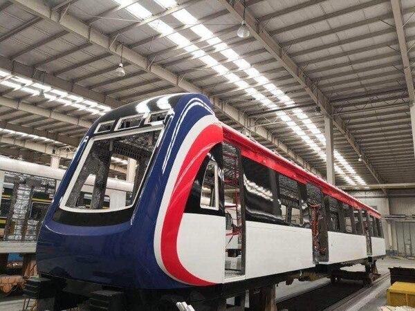 Así va la construcción de los nuevos trenes para Costa Rica por parte de empresa Qingdao, ubicada en la provincia china de Shandong. Foto cortesía de Incofer