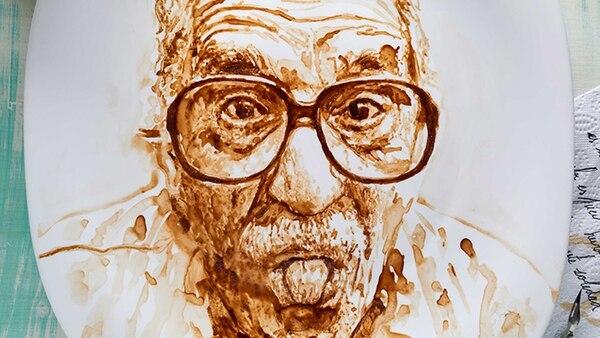 Gabriel García Márquez hecho a base de café. Uno de los principales productos de exportación colombiano.