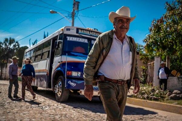 A man walks in Badiraguato -Mexican mobster Joaquin