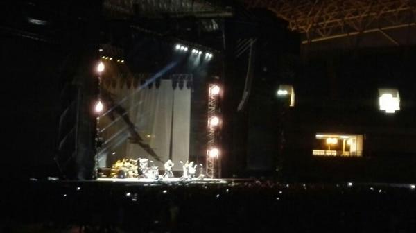 Heresy, banda costarricense, abrió el concierto de Metallica la noche de este sábado en el Estadio Nacional.