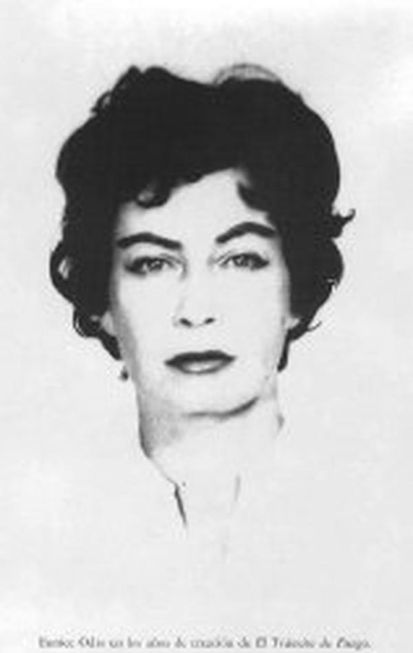 Eunice Odio en los años en que escribió El tránsito de fuego. Foto: Archivo LN.