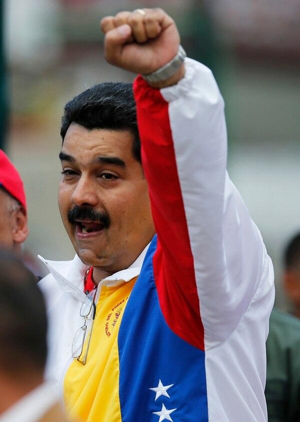 El presidente Nicolás Maduro, momentos después de ejercer el sufragio. | AFP.
