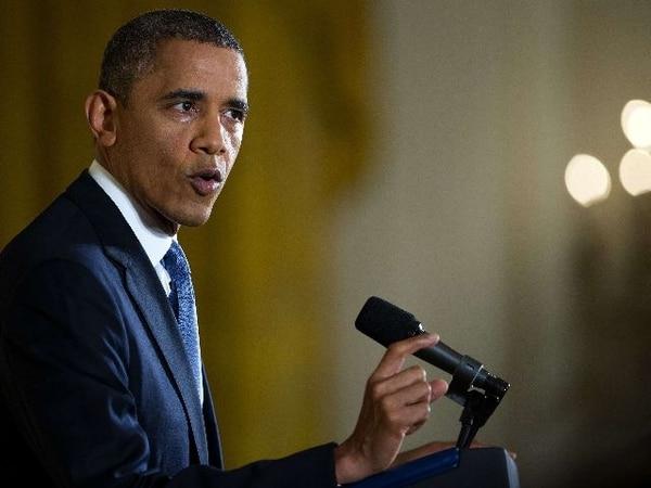El presidente Barack Obama durante la conferencia de prensa hoy en la Casa Blanca.   AFP