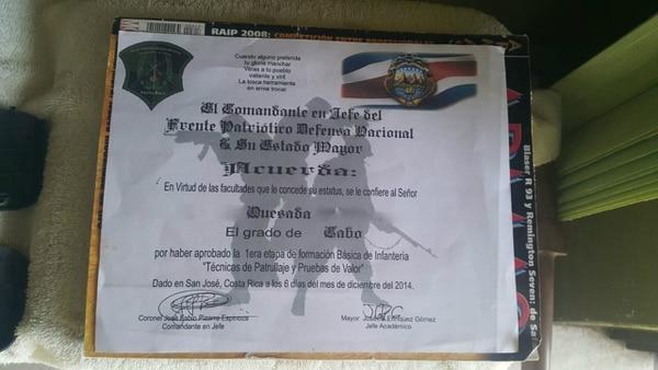 Este es el diploma que otorgaba Pizarro a los sujetos.
