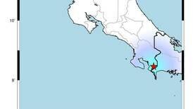 Tres temblores originados en frontera sur y golfo de Nicoya fueron sentidos en varias partes del país