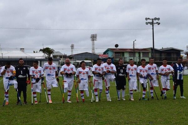 Esta es la Selección de Fútbol para Amputados de Costa Rica que se enfrentó a El Salvador en la Copa Centroamericana 2019, este jueves. Foto: Fiorella Montoya