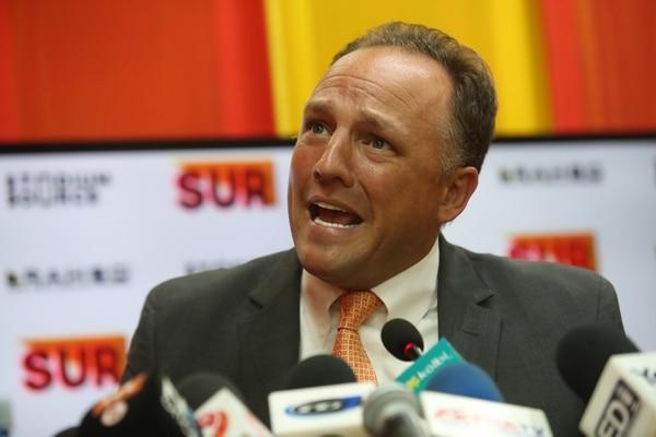 David Patey en conferencia de prensa el pasado lunes. Fotografía: John Durán