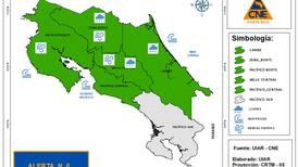 CNE declara alerta verde por nuevo empuje frío que causaría fuertes vientos y lluvias