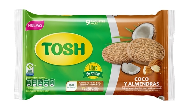 Como una opción saludable, Tosh tiene diferentes presentaciones. Las galletas llegan a cumplir una exigencia del consumidor. Foto: Cortesía Pozuelo.