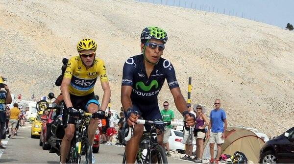 Nairo Quintana y Chris Froome en el ascenso a Mont Ventoux durante el Tour de Francia de 2013. Esa largada la ganó el británico.