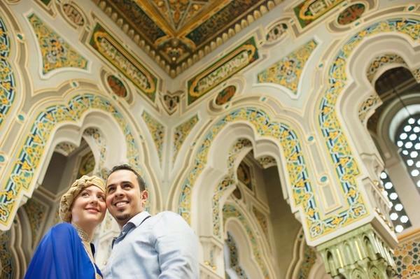 Milena Chen-Apuy Murillo y Fawaz A. Alotaiby tuvieron dos bodas; una fue en una mezquita.