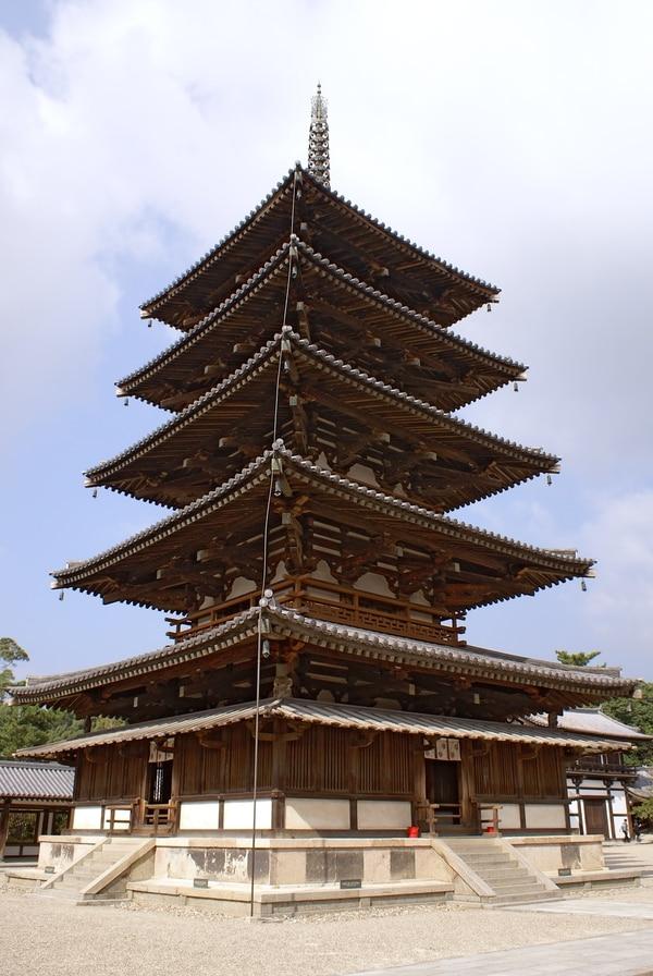 La pagoda del templo Horyu-ji.