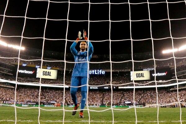 Keylor Navas antes de un partido de pretemporada del Real Madrid en Estados Unidos. Foto: AP