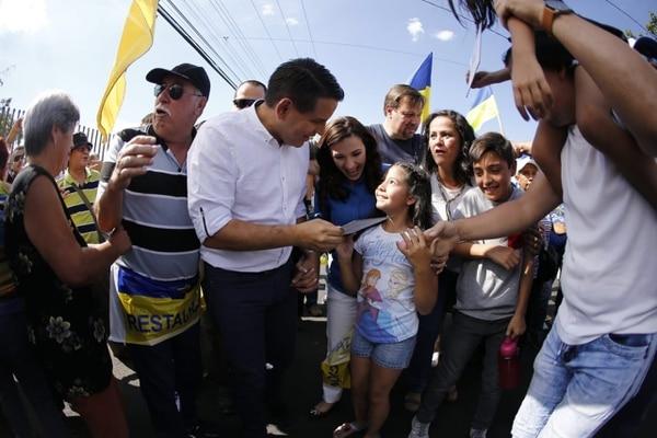 Fabricio Alvarado, el 1.° de abril del 2018, día que se realizó la segunda ronda electoral, en la cual triunfó el hoy presidente Carlos Alvarado, del PAC. Foto: Cortesía del Partido Restauración Nacional.