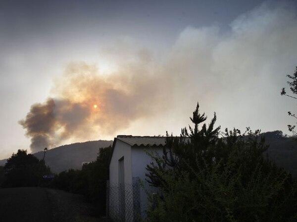 La aldea de Las Hayas, en La Gomera, ha sido una de las afectadas por el fuego. | AFP.