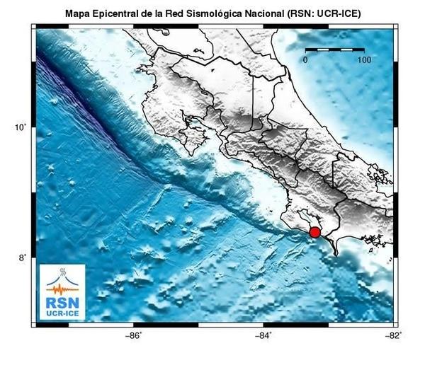 El epicentro lo ubicaron a 19 kilómetros al oeste de Pavón de Golfito
