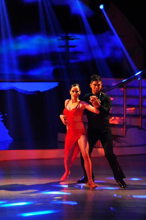 Alonso Solís y Fiorella Sánchez bailarán chachachá.   MELISSA FERNÁNDEZ.