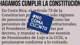 #NoComaCuento: Carlos Alvarado no puede eliminar las pensiones de lujo por decreto