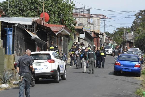 La acción policial de esta tarde sorprendió a los vecinos de las barriadas más conflictivas de Alajuela.