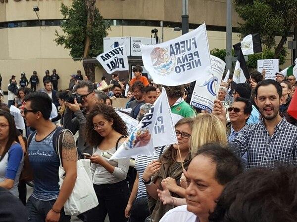 La marcha de este jueves se desarrolló desde el Ángel de la Independencia y hasta el Zócalo de la capital mexicana.