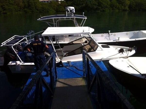 Un yate de pesca deportiva fue usado para trasladar la droga.