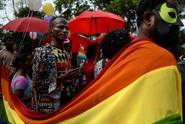 En Chennai, India miembros de la comunidad LGBTIQ tomaron parte en la marcha que exigía libertad y cero discriminación sin importar la orientación sexual.
