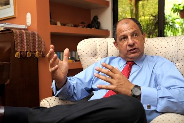 Luis Guillermo Solís, presidente de la República.