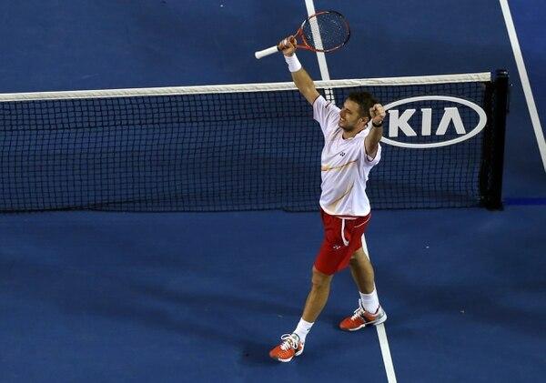 Stanislas Wawrinka venció a Tomas Berdych en la semifinal de Abierto de Australia.