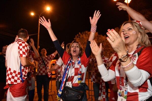 La locura ha sido total entre los croatas que están en Moscú. Fotografía: AFP