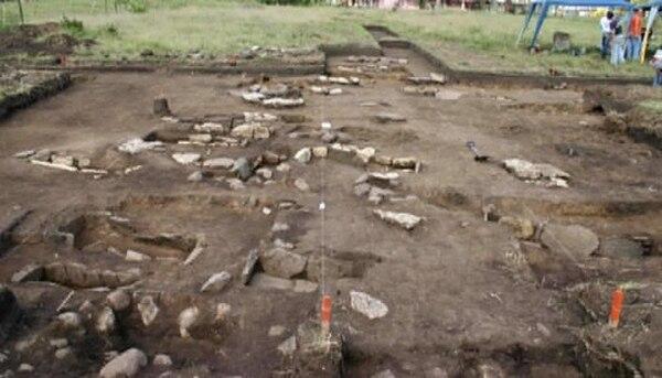 Estos son los hallazgos que se han realizado en el terreno de Agua Caliente. Fotografía: Cortesía Municipalidad de Cartago.