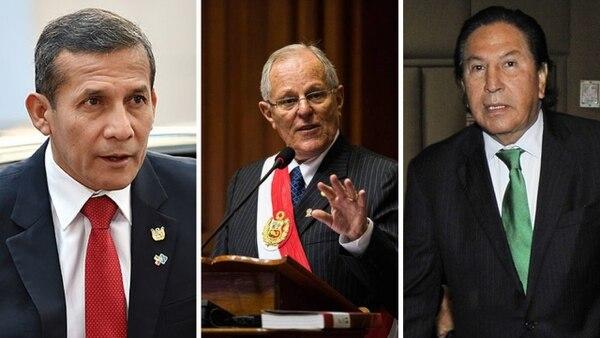 Combo de fotografías que muestra a Ollanta Humala, Pedro Pablo Kuczynski y Alejandro Toledo. Fotos: AFP