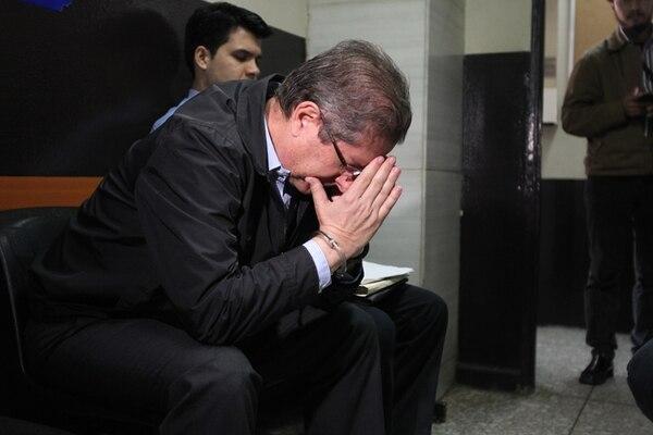 Pedro Ramírez permanecía ayer en el Ministerio Público. | PAULO RAQUEC, LA PRENSA LIBRE (GUATEMALA) PARA LN