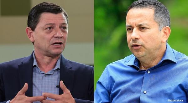 Jorge Hidalgo (izquierda) y Rodolfo Villalobos (derecha), candidatos para la presidencia de la Federación Costarricense de Fútbol. Fotografía: Nación.