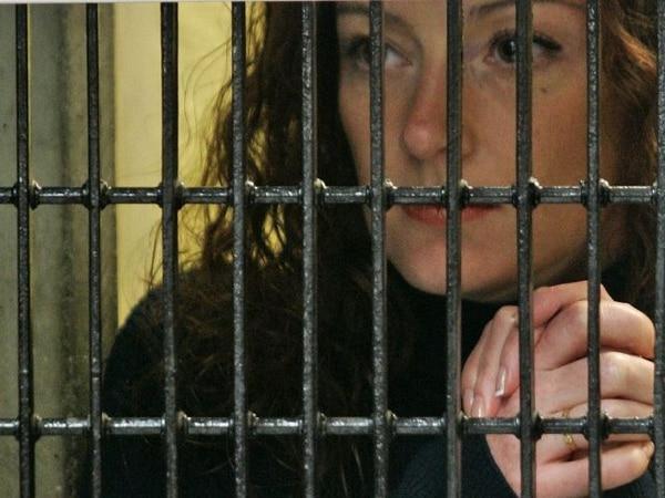 Florence Cassez en una prisión en Ciudad de México en enero del 2008. Foto: AFP/Ronaldo Schemidt