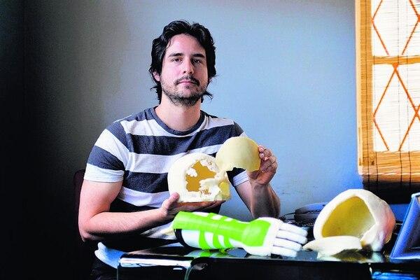 David Meléndez, de Avant BioMedical, diseña desde ParqueTec prótesis e implantes de sustitución osea.