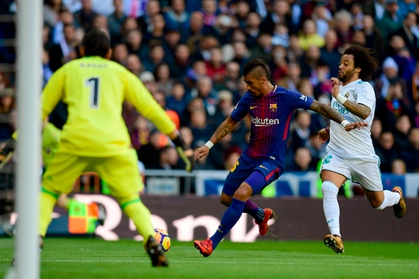 El Barcelona le anotó tres goles a Keylor Navas en diciembre pasado. / AFP PHOTO / JAVIER SORIANO