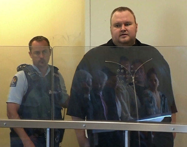 El fundador de Megaupload, Kim Dotcom, a principios del 2012 cuando fue arrestado.