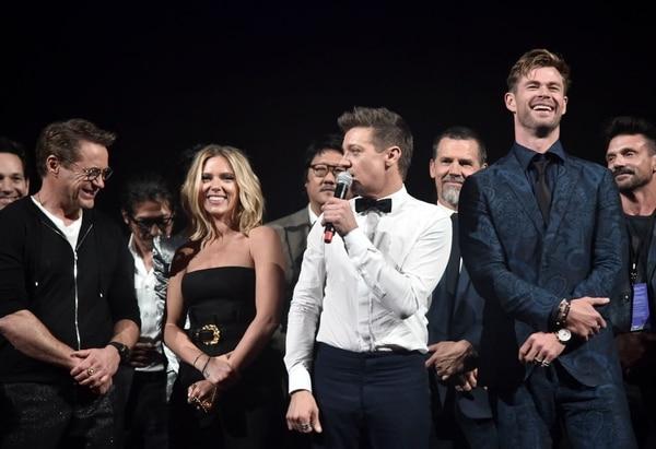 Jeremy Renner habló durante la gala de 'Avengers: Endgame'. Foto: AP