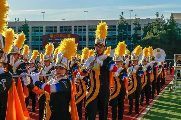 El sábado 29 de diciembre, la Banda Municipal de Acosta practicó y recibió un reconocimiento en California. Cortesía de la Banda
