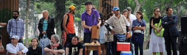 Catapulta se presentó este miércoles 31 de Agosto en el Parque Morazán con su propuesta