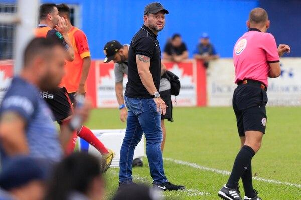Jafet Soto durante el partido del Herediano ante Grecia. Foto: Rafael Pacheco
