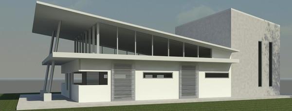 Esta es una fotografía de la vista lateral del nuevo edificio de la Compañía Lírica Nacional. Foto: Cortesía de Centro Nacional de la Música