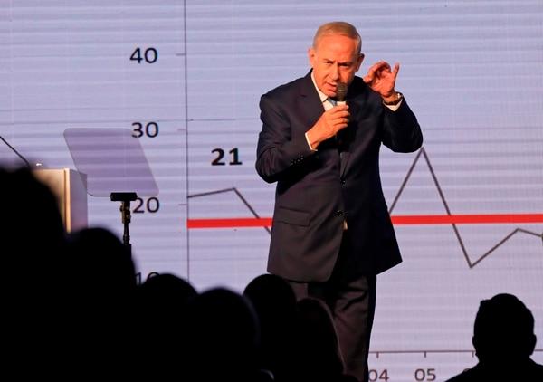 El primer ministro de Israel, Benjamín Netanyahu, hablaba en Jerusalén en una conferencia diplomática organizada por el diario The Jerusalem Post. Fue este miércoles 6 de diciembre del 2017.