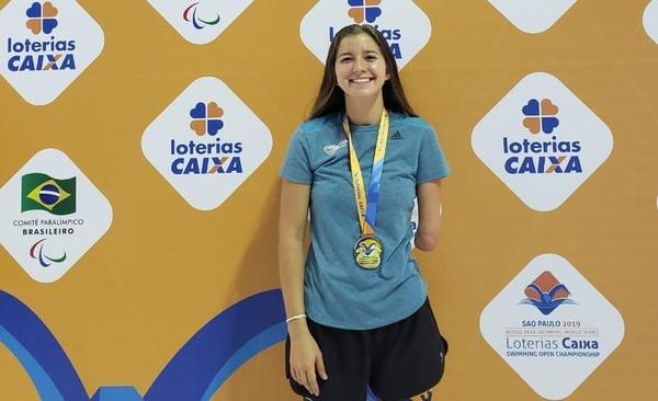 Camila Haase alcanzó el primer lugar en los 200 metros combinado y en los 100 metros pecho Fotografías: Comité Olímpico