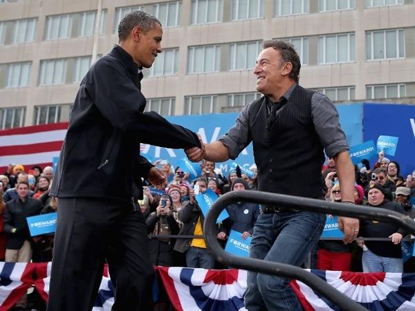 Bruce Springsteen junto al expresidente estadounidense Barack Obama, en el 2012. Foto: Chip Somodevilla/Getty Images/AFP