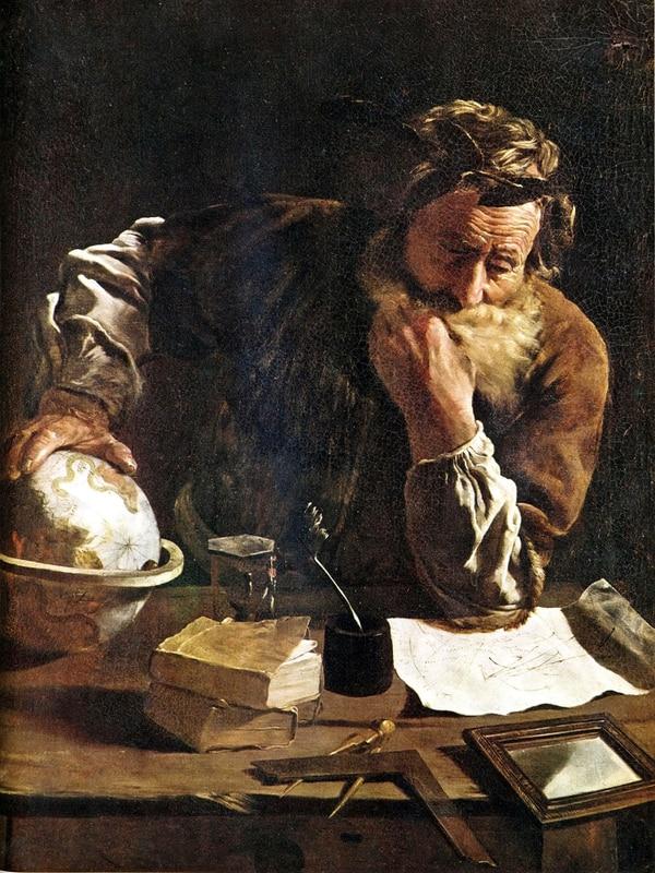Retrato de Arquímedes pintado por Domenico Fetti (1620).