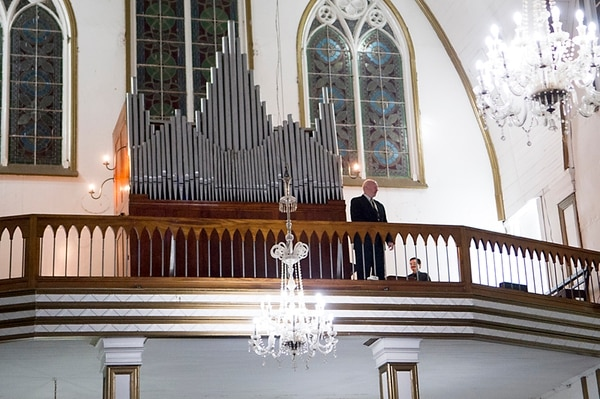 Espectáculo de lujo. Roland Voit fue vitoreado por los presentes en el templo, prácticamente lleno hasta el final del concierto. MARCELA bERTOZZI