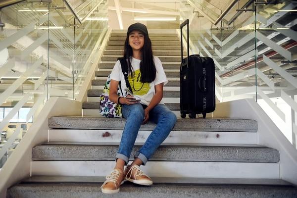 Fiorella Calderón Mora quiere conocer Italia para visitar la capital, Roma. También Alemania porque su sueño es estudiar ahí música y astronomía. Fotografía: Gesline Anrango.