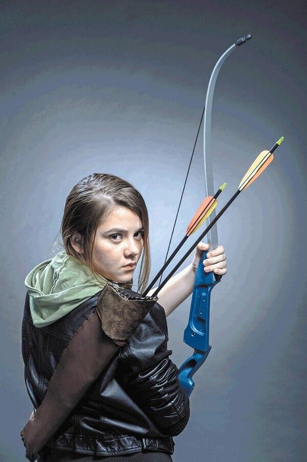 Katniss Everdeen es uno de los personajes más imitados por los fanáticos. En la foto, Jazmín Solórzano.